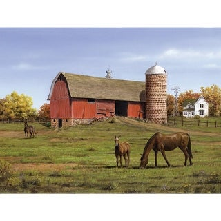 """Paint By Number Kit Artist's Collection 12""""X16""""-Horse & Barn"""
