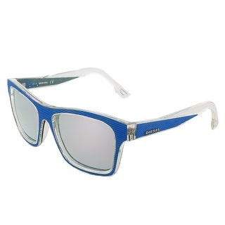 Diesel DL0071/S 86C Blue Denim/Transparent Rectangular sunglasses - 55-17-140