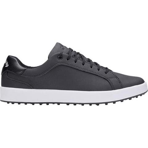 Callaway Men's Del Mar Waterproof Golf Shoe Black Microfiber Leather