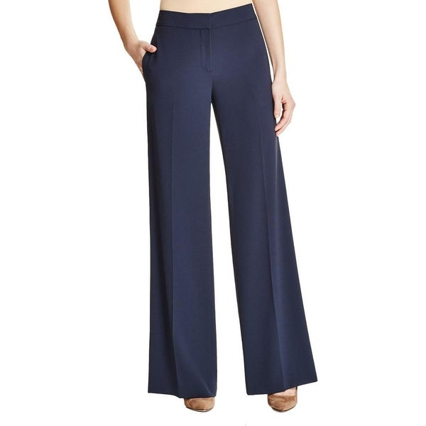 DKNY Womens Wide Leg Pants Crepe Low Rise