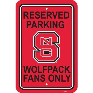 """Fremont Die Inc N Carolina State Wolfpack Plastic Parking Sign Plastic Parking Sign"""