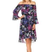 Rachel Rachel Roy Black Womens Size XS Floral-Print Sheath Dress
