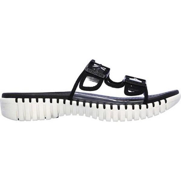 Shop Skechers Women's GOwalk Smart Miami Slide Sandal Black