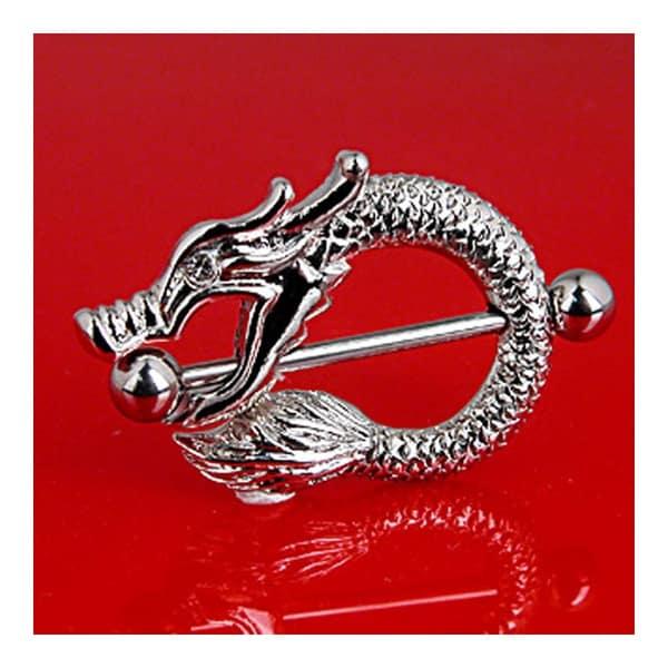 "Surgical Steel Dragon Nipple Shield - 14GA 1"" Long (Sold Individually)"