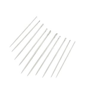 Unique Bargains Tailors Tool Metal Sharp Tip Threading Sewing Needles 10pcs