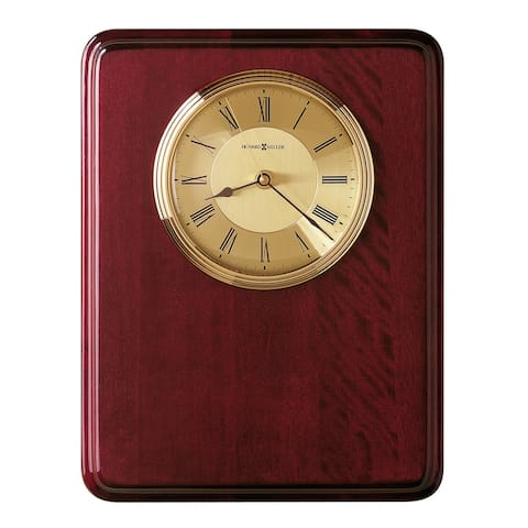 Howard Miller Honor Time I Elegant, Regal, Transitional Wall Clock on Commemorative Plaque, Reloj De Pared