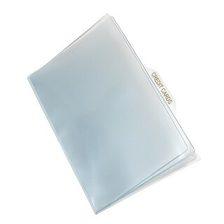 Buxton Vinyl Window Inserts for French Purse and Billfold Wallets (Pack of 5) - One size