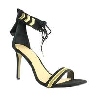 Daya Womens Black Ankle Strap Sandals Size 10