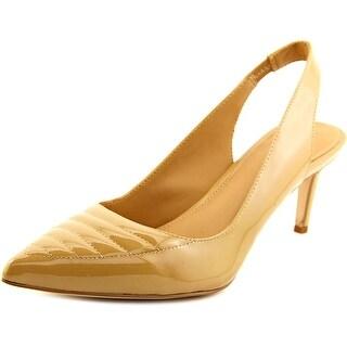 Calvin Klein Calvina Women Pointed Toe Synthetic Tan Slingback Heel