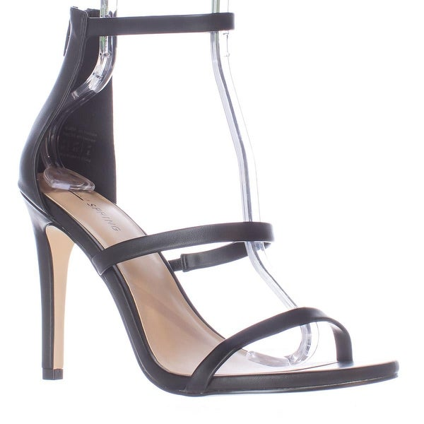 Call It Spring Astoelian Triple Strap Dress Sandals, Black - 10 us / 41 eu