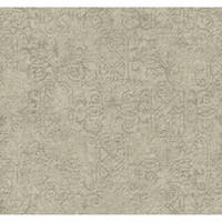 York Wallcoverings ER8153 Waverly Cottage Pen Pal Wallpaper - pale grey/soft silver/graphite grey - N/A