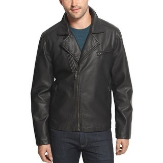 American Rag Asymmetric Zip Faux Leather Jacket Black X-Large