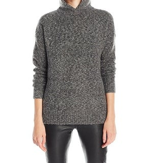 French Connection NEW Black Women Large L Marled Turtleneck Sweater