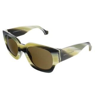 Balenciaga BA0011S 64J Mustard/Grey Square Sunglasses
