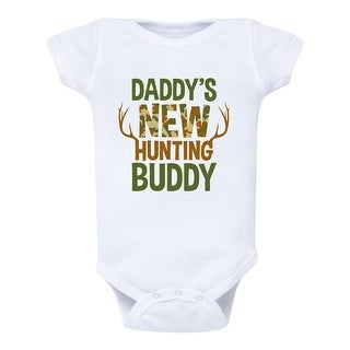 Daddy's New Hunting Buddy, Camo Fill - Infant One Piece