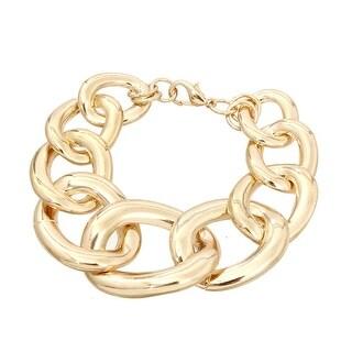 Bold Gold Chain Bracelet