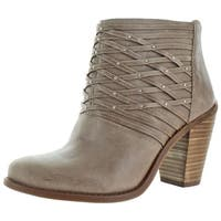 Jessica Simpson Women's Claireen Leather Ankle Booties Shoes