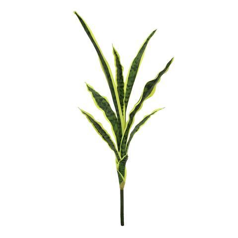 "Set of 2 Sansevieria Snake Plant Stem Foliage Branch 27in - 27"" L x 19"" W x 9"" DP"