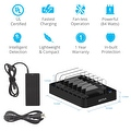 [4-Pack] Skiva StandCharger (7-Port / 84W / 16.8A) Multi-USB Charging Station with '28 units of Short (0.5ft) microUSB Cables' - Thumbnail 7