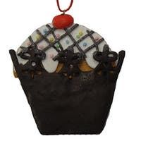 Sweet Memories Brown Cupcake with Cherry on Top Christmas Ornament - multi