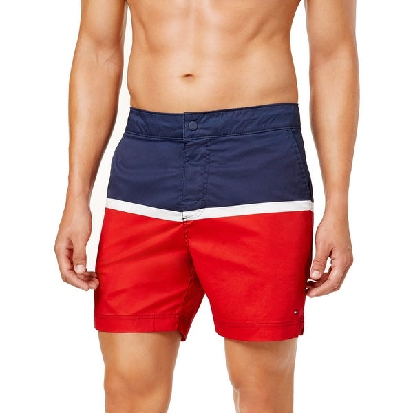 e6054b0756 Shop Tommy Hilfiger Mens Medium Colorblock Board Shorts - Free Shipping On  Orders Over $45 - Overstock - 28286615