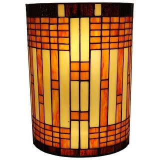 Link to Tiffany Style 2-light Geometric Wall Sconce AM1077WL10B Amora Lighting Similar Items in Sconces