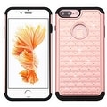 Insten Hard PC/ Silicone Dual Layer Hybrid Rubberized Matte Case Cover with Diamond For Apple iPhone 7 Plus - Thumbnail 4