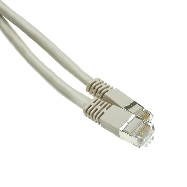 Offex Shielded Cat6a Gray Ethernet Patch Cable, Snagless/Molded Boot, 500 MHz, 100 foot