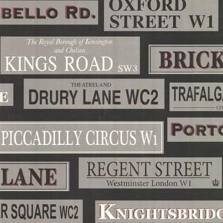Brewster 347-20137 Shreve Black London Landmarks Wallpaper