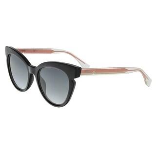 Fendi FF0132S 0N7A Lines Black Cat Eye Sunglasses