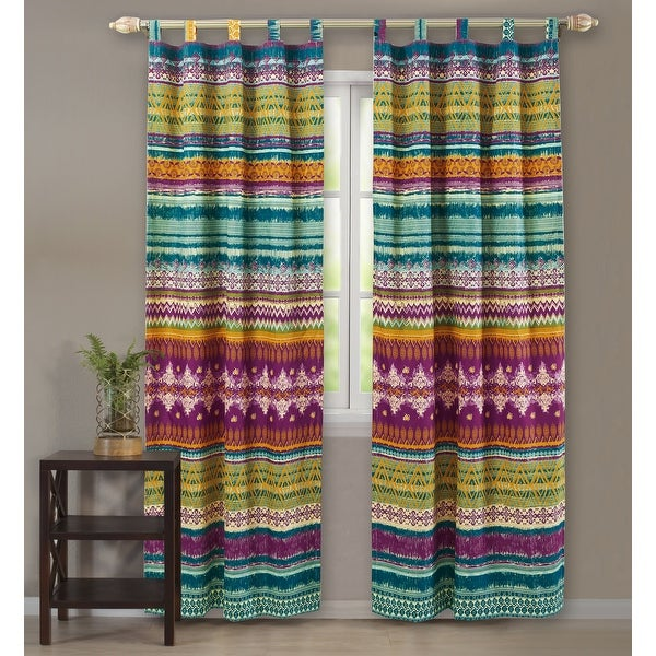 Greenland Home Fashions Southwest 4-piece Window Panel Pair. Opens flyout.