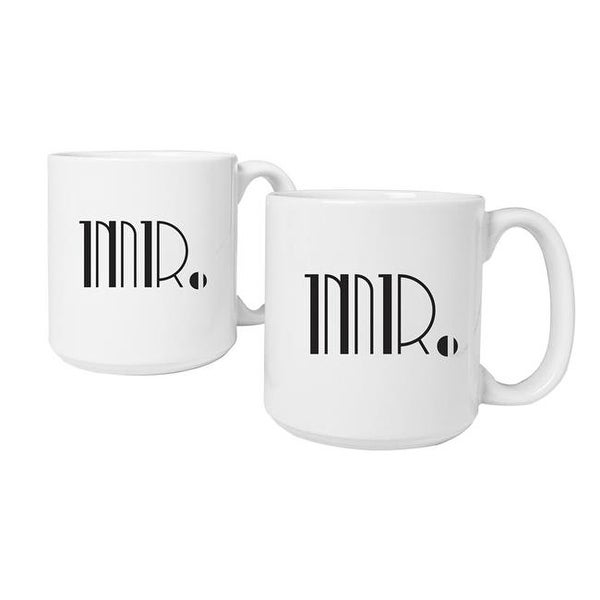 Cathys Concepts Mr Gatsby 20 Oz Large Coffee Mugs Set