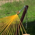 Sunnydaze Thick Cord Mayan Hammock with Curved Spreader Bars - Thumbnail 3