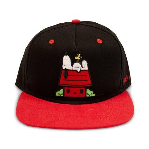 Peanuts Ball Cap Snoopy Embroidered - Black - O/S