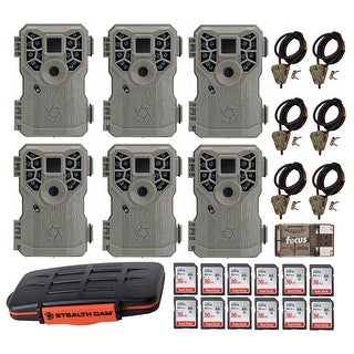 Stealth Cam 10MP Trail Game Camera 6 With Accessory Bundle