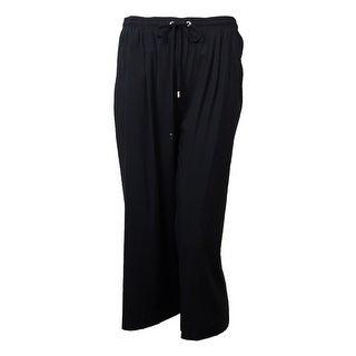 Karen Kane Women's Drawstring Culottes Pants - Black - S
