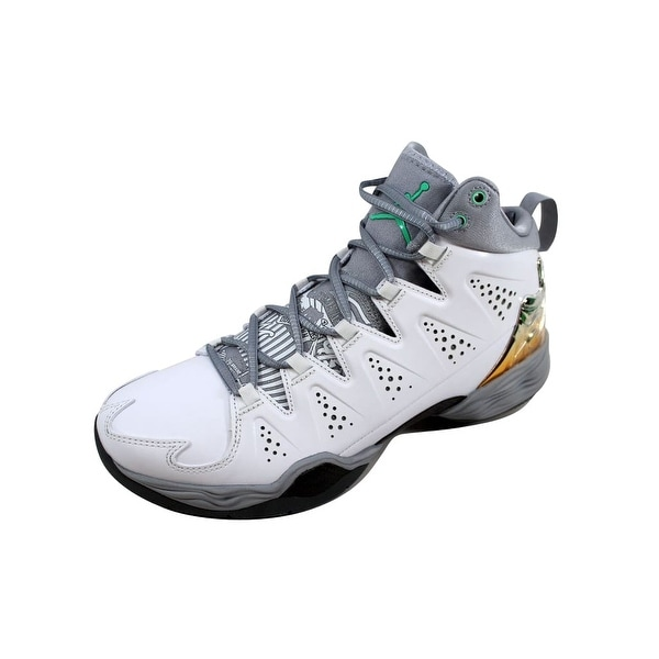 0785115a8efb9e Shop Nike Men s Air Jordan Melo M10 White Green Glow-Wolf Grey-Cool ...