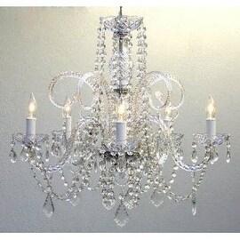 Swarovski Crystal Trimmed Empire Victorian Chandelier Lighting H25 x W24
