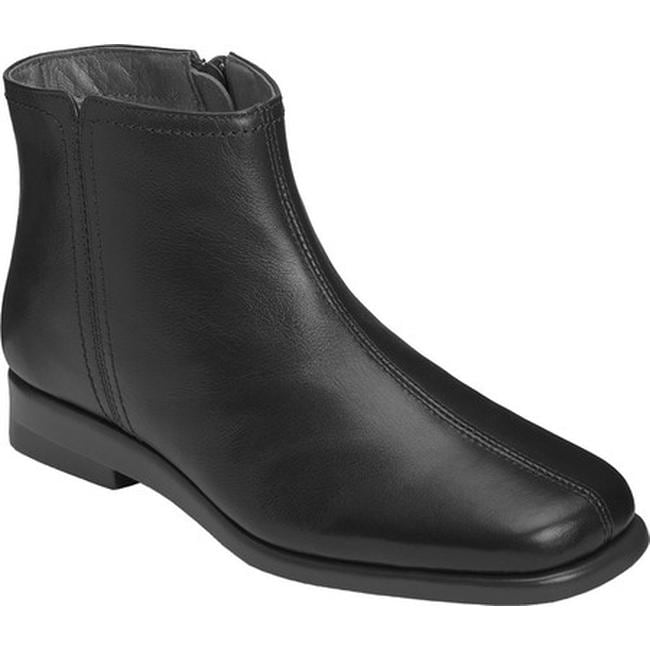 ae1111c562a Shop Aerosoles Women s Double Trouble 2 Ankle Boot Black Leather - Free  Shipping Today - Overstock - 16823349