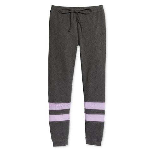 Ideology Girls Mesh Colorblocked Athletic Jogger Pants - L (16)