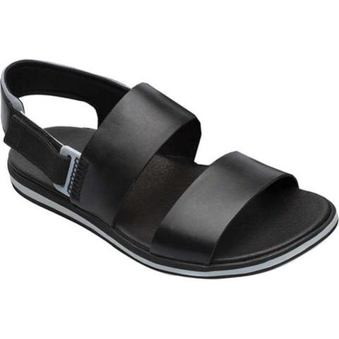 Camper Men's Spray Sandal Black/Grey Full Grain Leather/Nylon