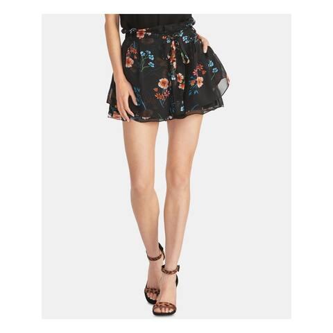 RACHEL ROY Womens Black Floral Shorts Size XXL