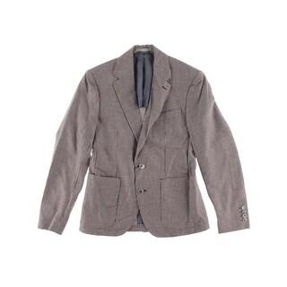 Zara Mens Linen Plaid Sportcoat