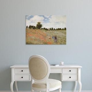 Easy Art Prints Claude Monet's 'Poppies' Premium Canvas Art