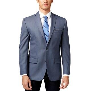 Michael Kors Classic Fit Blue Neat 2-Button Sportcoat Blazer 38 Regular 38R
