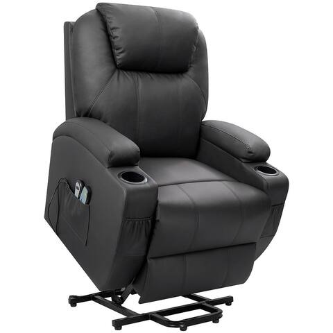 Homall Power Lift Recliner with Massage and Heat Faux Leather