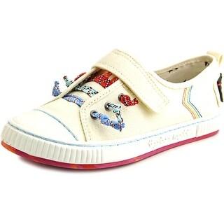 Tigerbear Republik Tickle Women Round Toe Canvas Ivory Sneakers