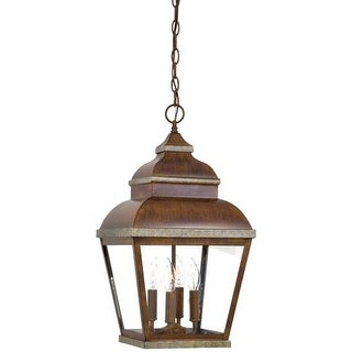 The Great Outdoors GO 8268 4 Light Lantern Pendant from the Mossoro Collection
