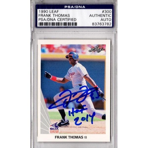 Frank Thomas Chicago White Sox 1990 Leaf Rookie Baseball Card 300 Whof 2014 Psadna