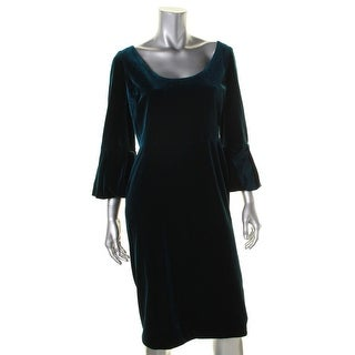 Black Halo Womens Casual Dress Sheath Scoop Neck